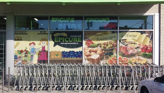 vitrine decals supermarket montreal